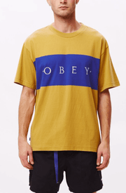 Obey Men's Tee Shirt Large / Almond Obey, Men's Buddy Tee (Tan)