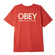 Obey Men's Tee Shirt Large / Chili Pepper Obey, Men's Submit Wisely Tee (Orange)