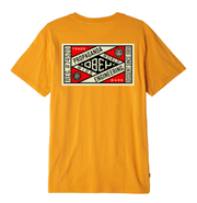 Obey Men's Tee Shirt Large / Yellow Obey, Men's Propaganda Engineering Tee (Mustard Yellow)