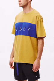 Obey Men's Tee Shirt Obey, Men's Buddy Tee (Tan)