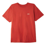 Obey Men's Tee Shirt Obey, Men's Submit Wisely Tee (Orange)