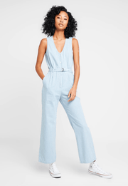 Obey Women's Jumpsuit 24 / Light Indigo Blue Obey, Women's Vista Jumpsuit (Multiple Colors)