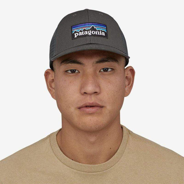 Patagonia Hats Forge Grey Patagonia, Men's P-6 Logo LoPro Trucker (Forge Grey)