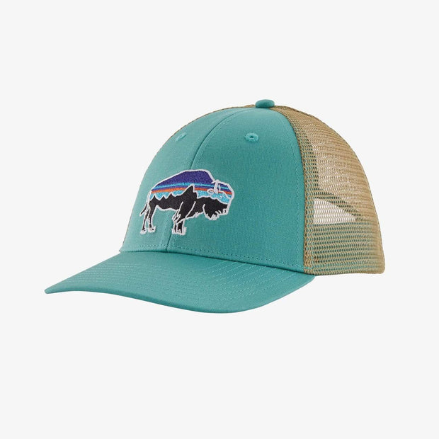 Patagonia Hats One Size / Light Beryl Green Patagonia, Men's Fitz Roy Bison LoPro Trucker Hat (Light Beryl Green)
