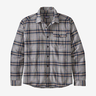 Patagonia Men's Flannel Large / Light Salt Grey Patagonia, Men's Fjord Flannel (Grey)