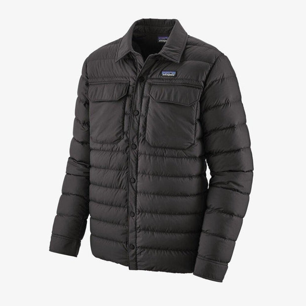 Patagonia Men's Jacket Large / Black Patagonia, Men's Silent Down Shirt Jacket (Black)