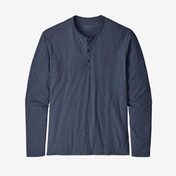 Patagonia Men's Long Sleeve Tee Medium Patagonia, Men's Henley Shirt (Navy)