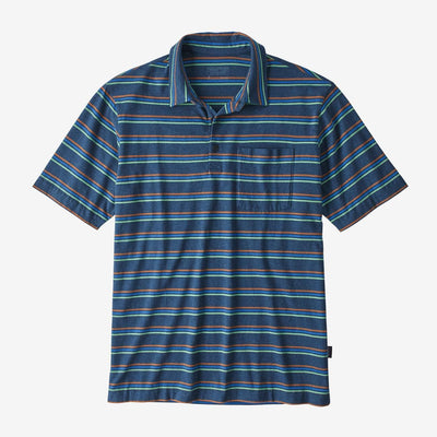 Patagonia Men's Polo Shirts Medium Patagonia, Men's Lightweight Polo (Stone Blue)