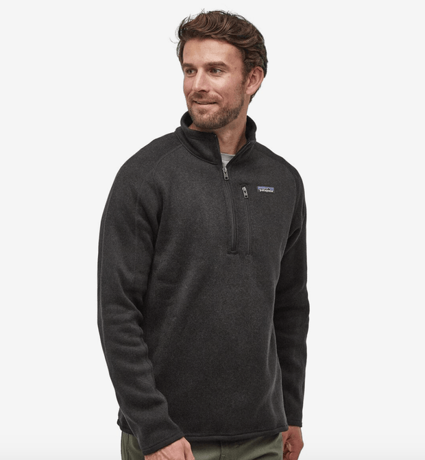 PATAGONIA Men's Sweaters Large / Black Patagonia, Men's Better Sweater Quarter-Zip (Multiple Colors)