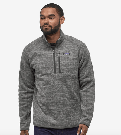 PATAGONIA Men's Sweaters Large / Nickel Dark Grey Patagonia, Men's Better Sweater Quarter-Zip (Multiple Colors)