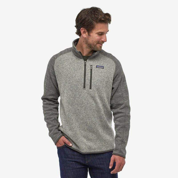 Patagonia Men's Sweaters Large / Nickel Forge Grey Patagonia, Men's Better Sweater Quarter-Zip (Nickel Grey)