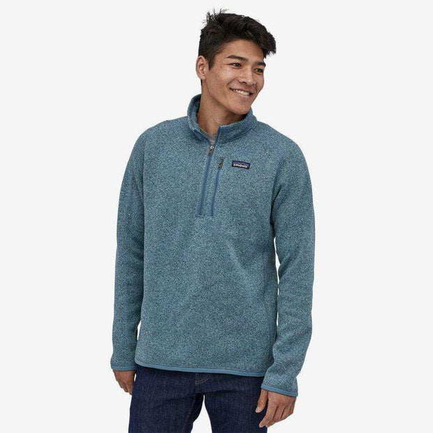 Patagonia Men's Sweaters Large / Pigeon Blue Patagonia, Men's Better Sweater Quarter-Zip (Pigeon Blue)