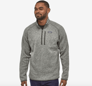 PATAGONIA Men's Sweaters Large / Stonewash Light Grey Patagonia, Men's Better Sweater Quarter-Zip (Multiple Colors)