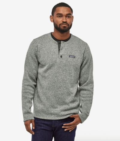 Patagonia Men's Sweaters Large / Stonewash Patagonia, Men's Better Sweater Henley (Stonewash Grey)
