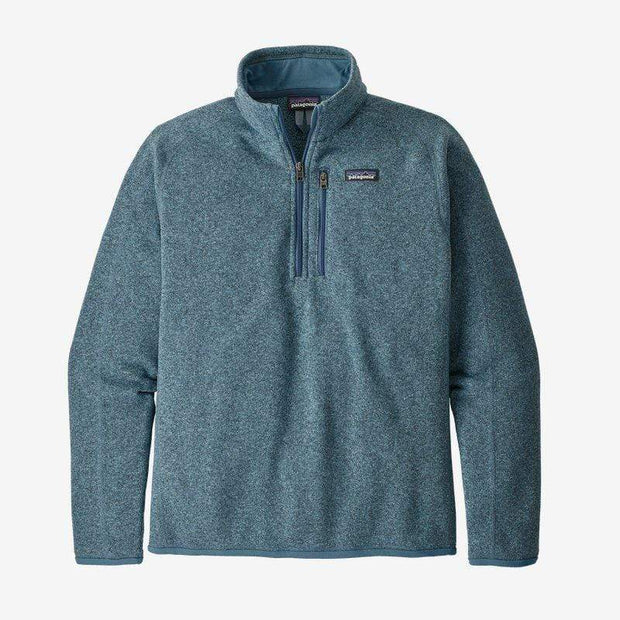Patagonia Men's Sweaters Patagonia, Men's Better Sweater Quarter-Zip (Pigeon Blue)
