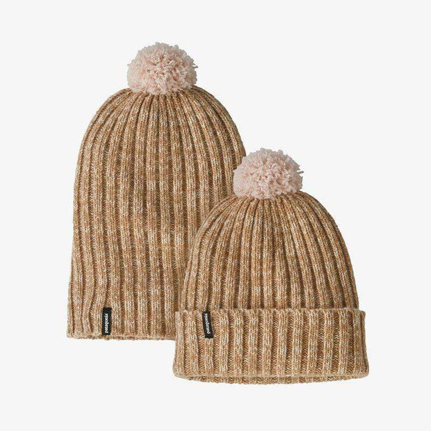 Patagonia Women's Hats Beige Patagonia, Women's Wool Pom Beanie (Multiple Colors)