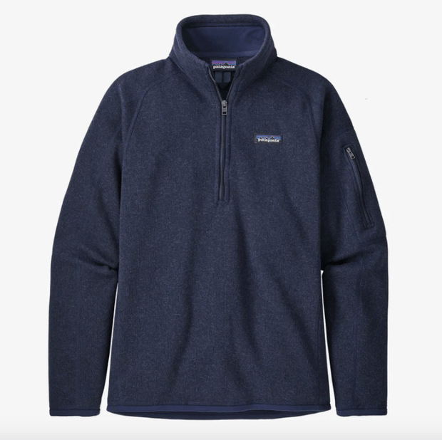 Patagonia Women's Sweaters Large / Navy Patagonia, Women's Better Sweater 1/4-Zip (Navy)