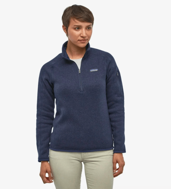 Patagonia Women's Sweaters Patagonia, Women's Better Sweater 1/4-Zip (Navy)