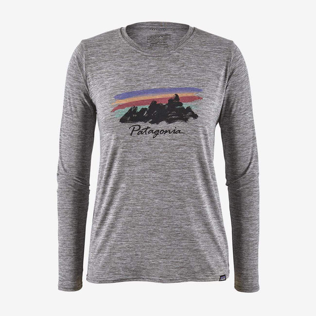 Patagonia Women's Tee Shirt Feather Grey / Small Patagonia, Women's Capilene Long Sleeve Tee (Multiple Colors)
