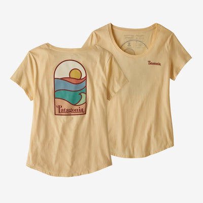 Patagonia Women's Tee Shirt Sunshine Yellow / Small Patagonia, Women's Sunset Sets Scoop Tee (Multiple Colors)