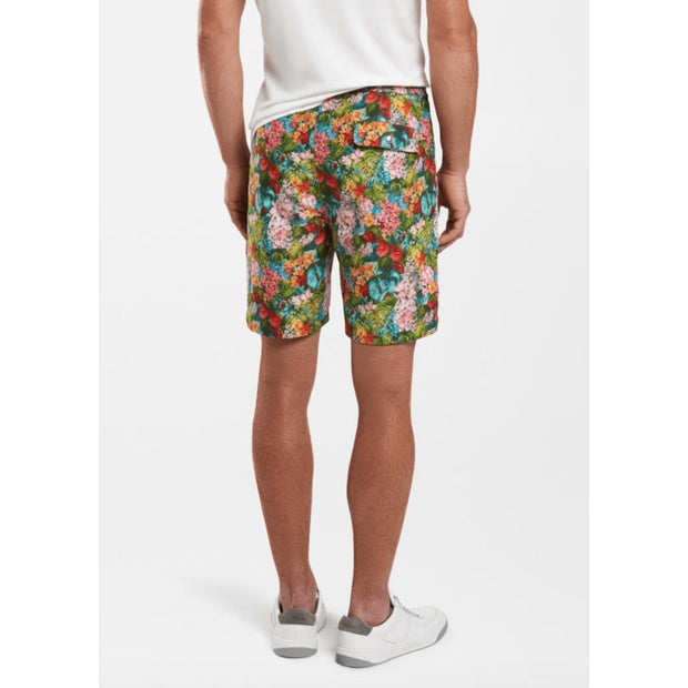 Peter Millar Men's Bathing Suit  Lampone Floral Peter Millar, Men's Giardini Swim Volley