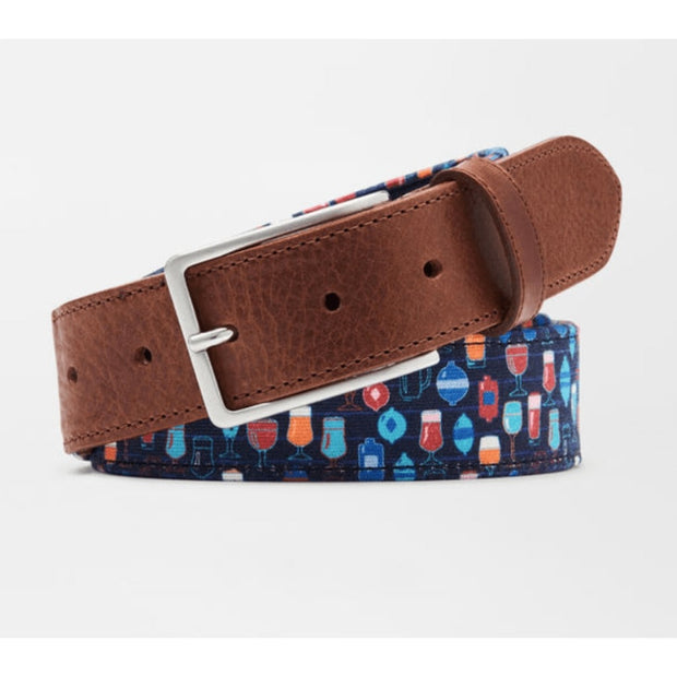 Peter Millar Men's Belt 34 / Atlantic Blue Peter Millar, Men's Big Friday Belt (Atlantic Blue)