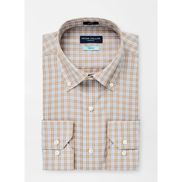 Peter Millar Men's Button-Down Shirts Large / Brown Peter Millar, Men's Tides Tattersall Sport Shirt (Brown)
