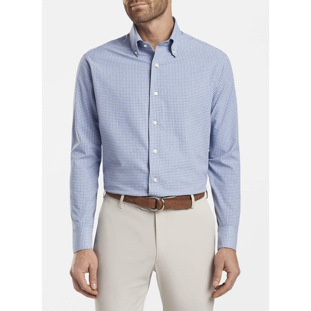 Peter Millar Men's Button-Down Shirts Large / Riverside Blue Peter Millar, Men's Goodman Natural Touch Button-Down (Blue)