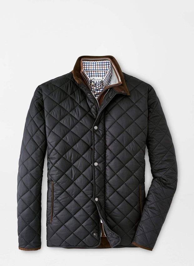 Peter Millar Men's Jacket Black / Large Peter Millar, Men's Suffolk Quilted Travel Coat (Multiple Colors)