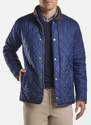 Peter Millar Men's Jacket Navy / Large Peter Millar, Men's Suffolk Quilted Travel Coat (Multiple Colors)