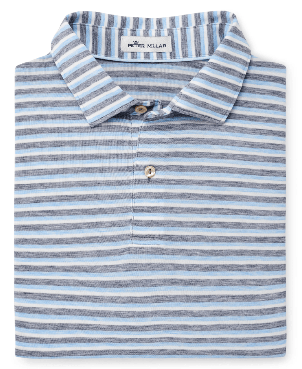 Peter Millar Men's Polo Shirts Medium / Navy Peter Millar, Men's Natural Touch Striped Polo (Multiple Colors)