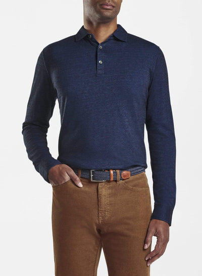 Peter Millar Men's Polo Shirts York Blue / Large Peter Millar, Men's Crown Fleece Birdseye Polo (Multiple Colors)