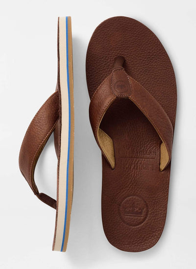 Peter Millar Men's Sandals Peter Millar & Hari Mari, Men's Flip Flops (Chocolate)