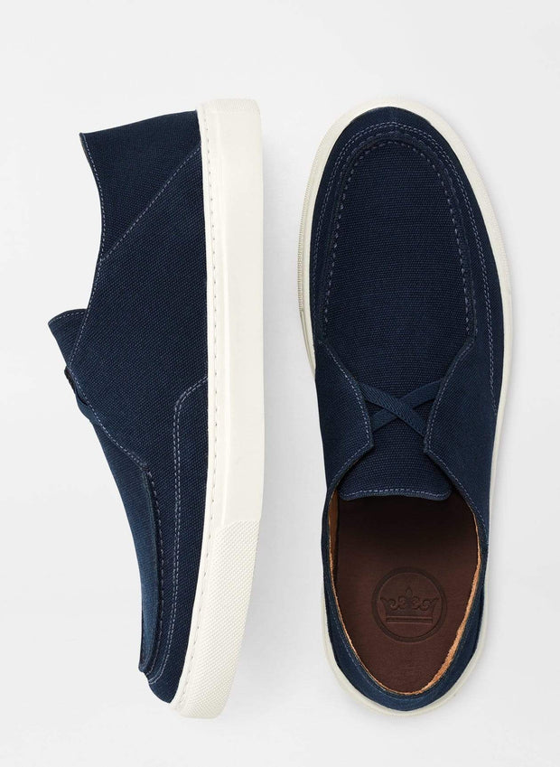 Peter Millar Men's Shoes Peter Millar, Men's Seaside Breeze Slip On (Navy)