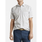 Peter Millar Men's Sharkflower Cotton Blend Shirt (White)
