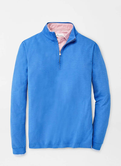 Peter Millar Men's Sweaters Ocean Blue / XL Peter Millar, Men's Slub 1/4-Zip Sweater (Multiple Colors)