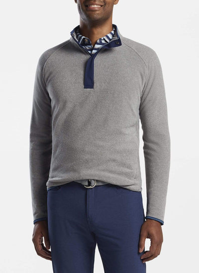 Peter Millar Men's Sweaters Peter Millar, Men's Cloudglow Micro Fleece Half-Zip (Gale Grey)
