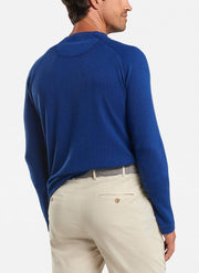 Peter Millar Men's Sweaters Peter Millar, Men's Sun-Washed Henley (Atlantic Blue)