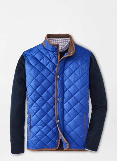 Peter Millar Men's Vest Peter Millar, Men's Essex Quilted Travel Vest (York Blue)