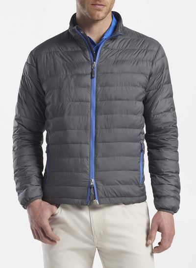 Peter Millar Men's Vest Peter Millar, Men's Hyperlight Quilted Jacket (Iron Grey)