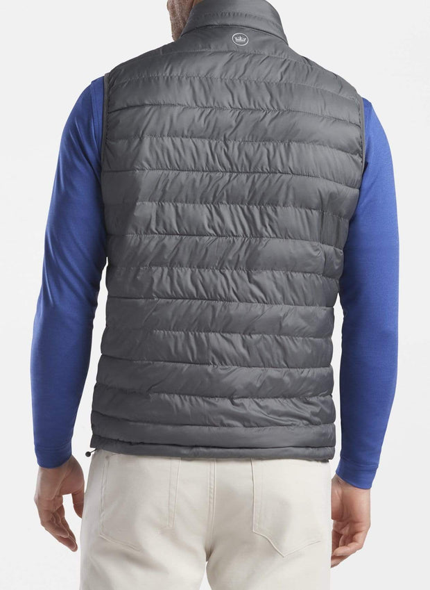 Peter Millar Men's Vest Peter Millar, Men's Hyperlight Quilted Vest (Dark Grey)