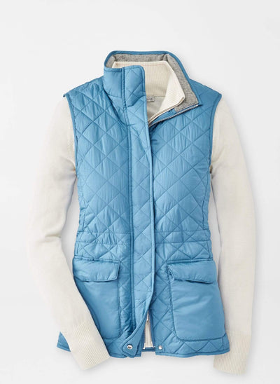 Peter Millar Women's Jacket Large / Sky Peter Millar, Women's Addison Travel Vest (Sky Blue)