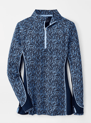 Peter Millar Women's Sweaters Large / Waterfall Blue Peter Millar, Women's Palm Quarter-Zip (Blue)