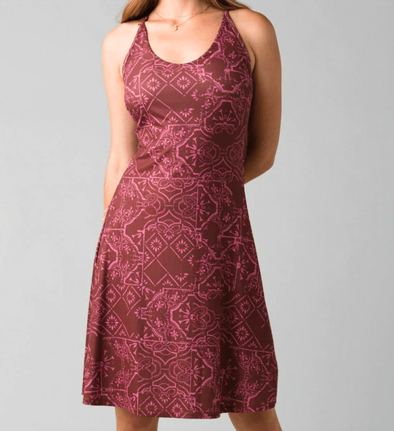 Prana Women's Dresses Small Prana, Opal Dress (Wine Red)