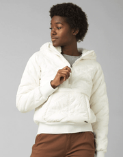 Prana Women's Jacket Large / Bone White Prana, Women's Elsa Half-Zip Pullover Jacket (Multiple Colors)