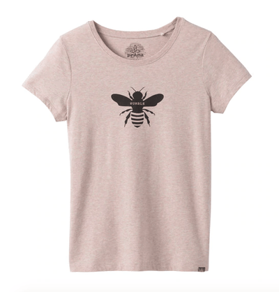 Prana Women's Tee Shirt XS / Sand Pink Prana, Women's Bumble Bee Graphic Tee (Multiple Colors)
