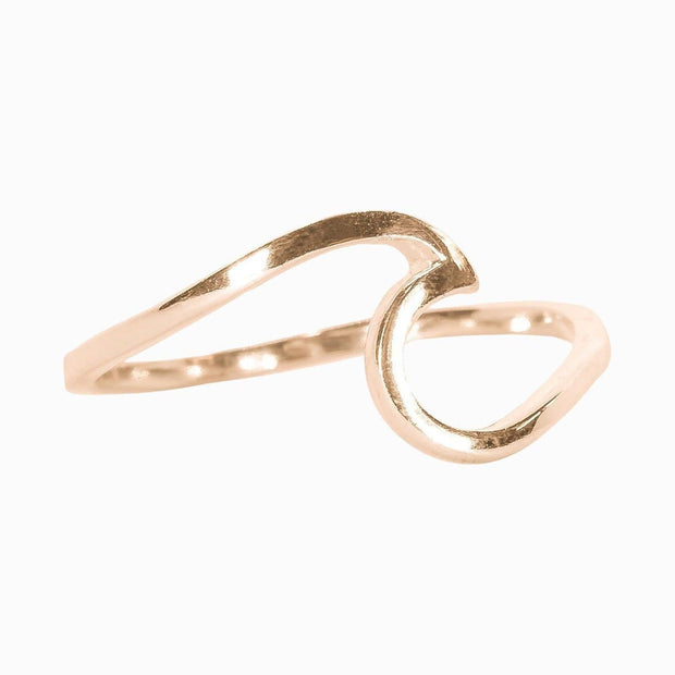 Pura Vida Ring 5 / Rose Gold Pura Vida, Wave Ring (Multiple Colors)