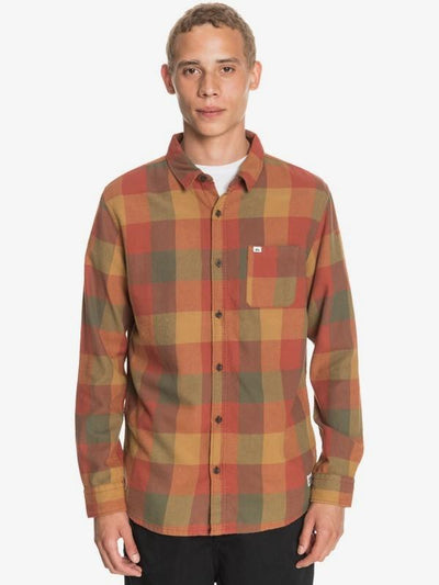 Quiksilver Men's Flannel Large / Henna Orange Quiksilver, Men's Motherfly Flannel (Multiple Colors)