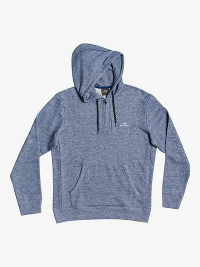 Quiksilver Men's Sweatshirt Large / Estate Blue Quiksilver, Men's Ocean Nights Half Zip (Heathered Blue)
