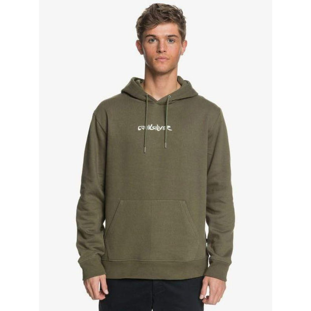 Quiksilver Men's Sweatshirt Large / Olive Green Quiksilver, Men's Goodnight Wave Hoodie (Olive Green)